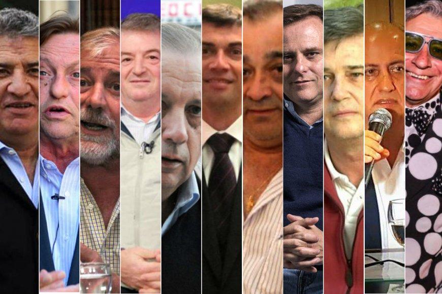 Algunos de los dirigentes con causas judiciales.