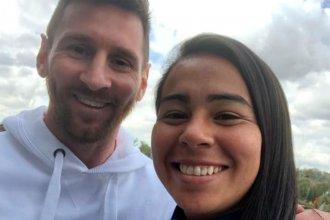 Antes de viajar al mundial, la entrerriana Yael Oviedo cumplió el sueño de conocer a Messi