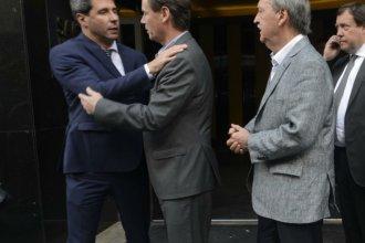 """""""Vamos por la construcción de otro modelo"""", dijo Bordet al saludar a Uñac y Herrera"""