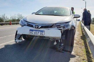 1000 litros de glifosato cayeron sobre un automóvil en el que iba una familia entrerriana
