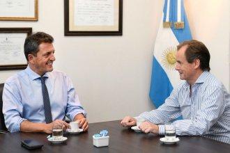 """""""Consenso y unión nacional"""": Bordet también tomó un café con Massa"""