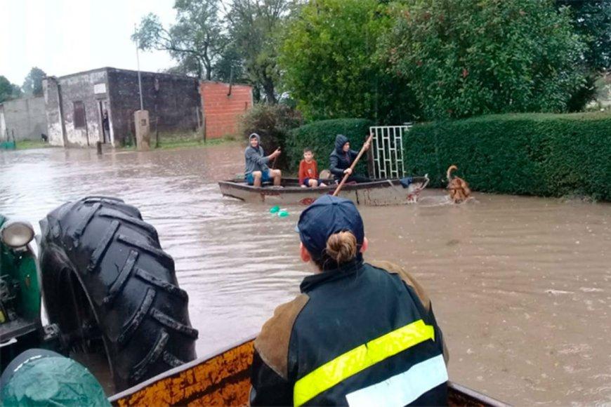 Ya son 170 los evacuados en Rosario del Tala.