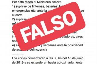 Fake news en WhatsApp: no existe aviso de un nuevo corte de energía eléctrica en el país