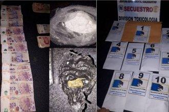 Cuatro personas fueron detenidas en tres allanamientos por narcomenudeo