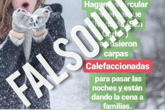 Noticias falsas en medio del frío: el municipio aseguró que no hay carpas calefaccionadas en el parque San Carlos