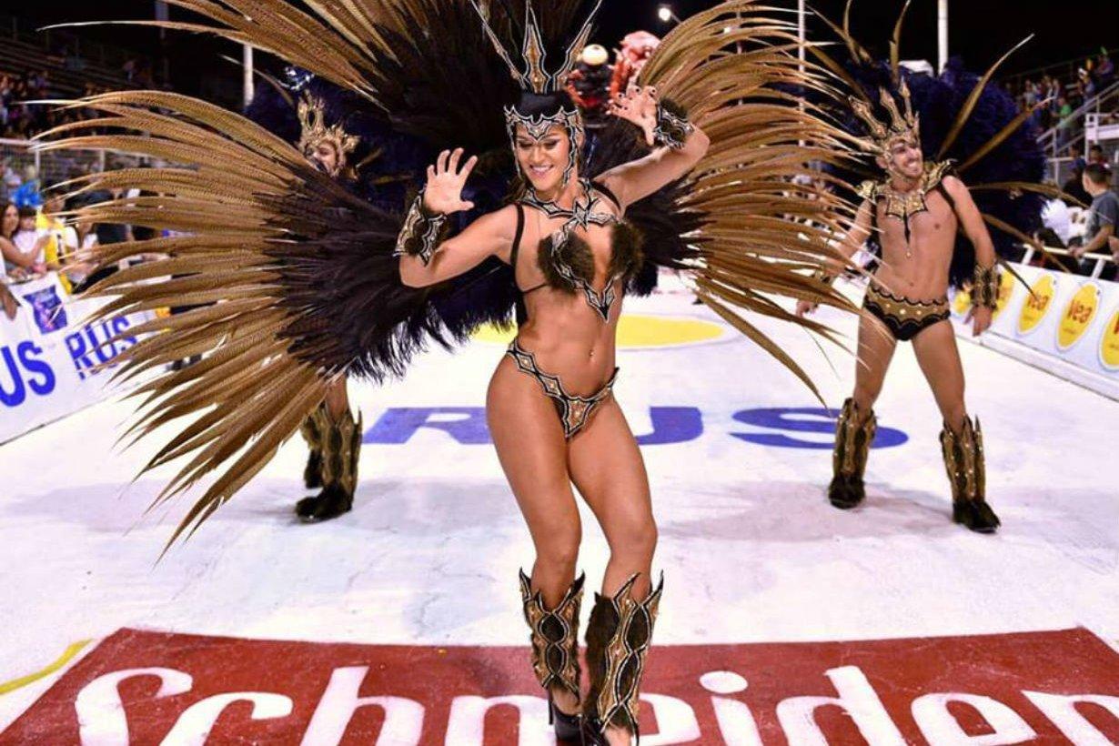 Yamila en la edición 2018 del Carnaval del País.