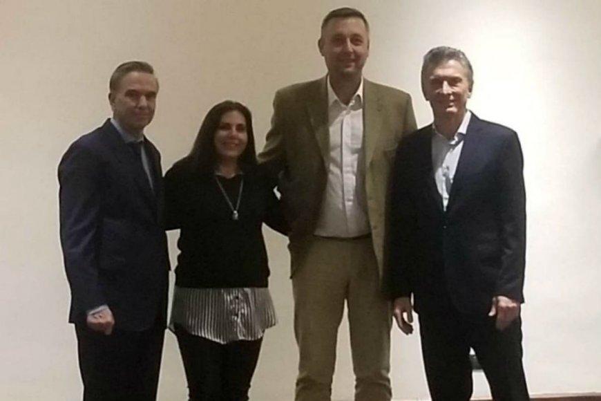 Juntos: Pichetto, Lena, Hein y Macri.