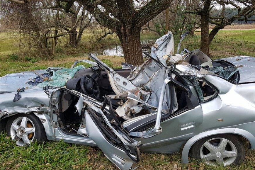 El automóvil una vez retirado del lugar del choque