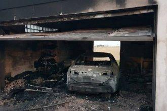 Voraz incendio destruyó parte de la casa de un intendente entrerriano y precandidato a diputado nacional
