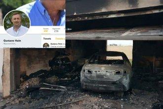 Los mensajes en las redes tras el incendio en la casa del intendente y precandidato