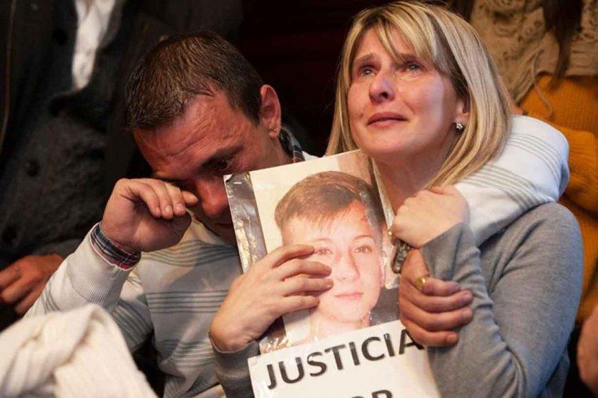 Los padres del niño asesinado