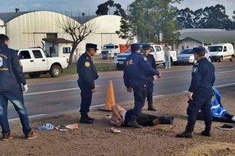 Llevaban drogas y atropellaron a un policía en Ruta 18 después de haber chocado en el acceso a General Campos