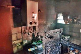 Una vivienda fue consumida por el fuego y produjo una triste pérdida