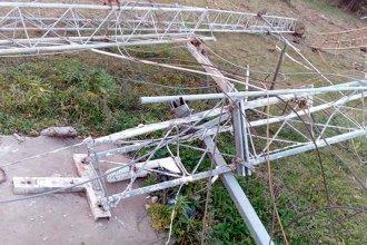Cayó la torre de transmisión de LT39 e investigan un posible ataque vandálico