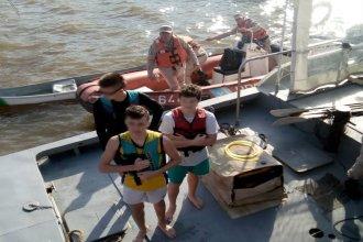 Tres adolescentes de 14 años fueron rescatados del río Uruguay, en Colón