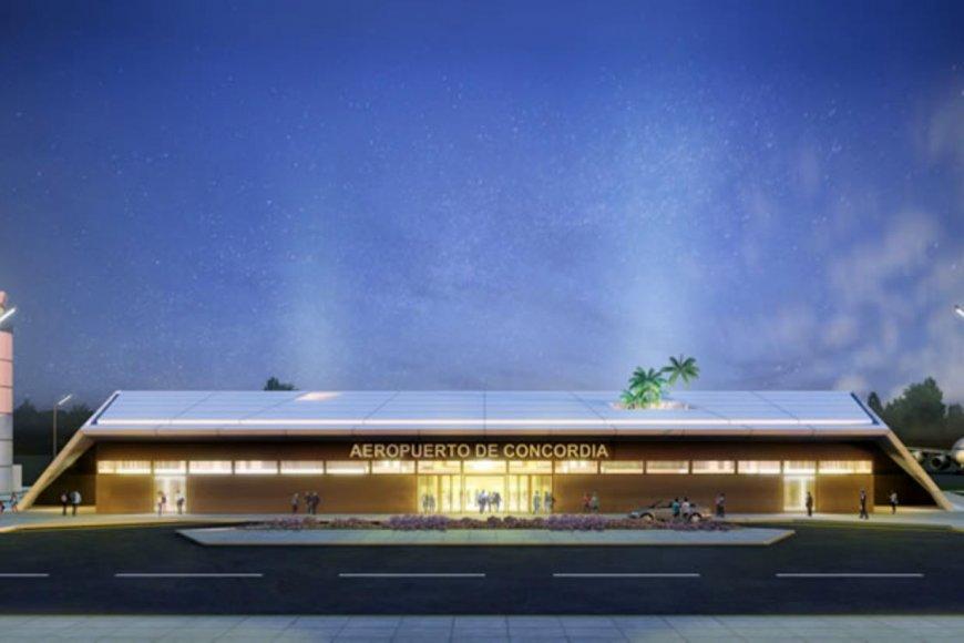 El proyecto del nuevo aeropuerto de Concordia.