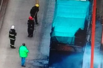 Por el incendio de un camión, corte y demora en el Complejo Zárate - Brazo Largo