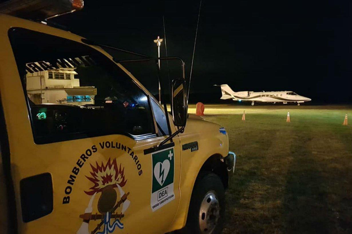 Bomberos Voluntarios colaboraron en el operativo.