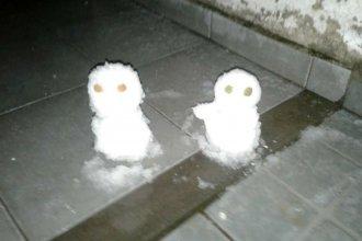 ¿Nevó en Entre Ríos? El frío permitió a los niños hacer muñecos blancos