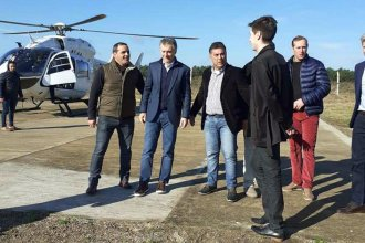 Macri hizo escala en La Criolla, antes de su llegada a Concordia
