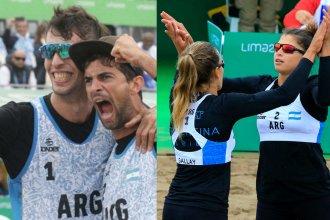 El Beach Volley sumó otras dos medallas para Argentina gracias a los entrerrianos Azaad y Gallay