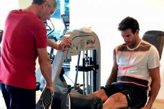 De la mano de su kinesiólogo entrerriano, Delpo inició una nueva etapa de recuperación