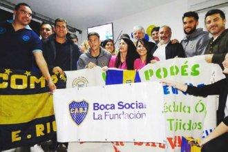 Antes del partido, jugadores de Boca visitaron a pacientes oncológicos del hospital San Roque