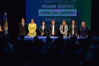 Juicio por Jurados: Medina y Garzón participaron en Chaco del primer sorteo de ciudadanos