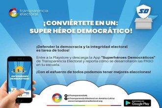 """""""Superhéroes Democráticos"""", la app gratuita para seguir y controlar las PASO"""
