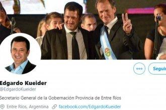 Boletas apócrifas: Kueider reaccionó con un tuit, pero luego se arrepintió y lo borró