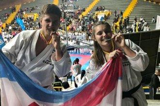 Dos entrerrianos se subieron al podio entre los mejores karatecas de América