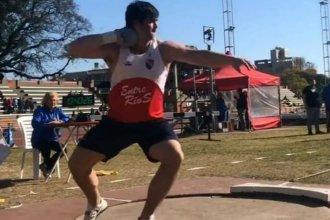 Un entrerriano batió el récord argentino junior que tenía el finalista olímpico Germán Lauro