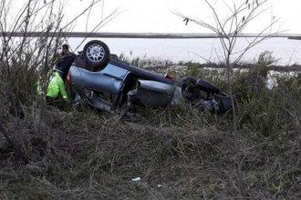 Chocaron con un carpincho que se cruzó en la ruta y volcaron: Un hombre de 74 años falleció