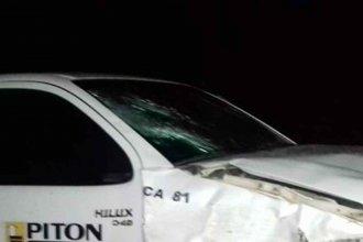 Ruta 18: Ciclista murió atropellado por una camioneta de la empresa Pitón