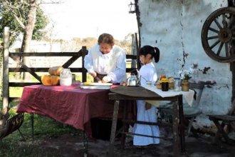 """""""Elaboración de dulces de la colonia"""": la foto de las alumnas sanjosesinas ganadora de un concurso provincial"""