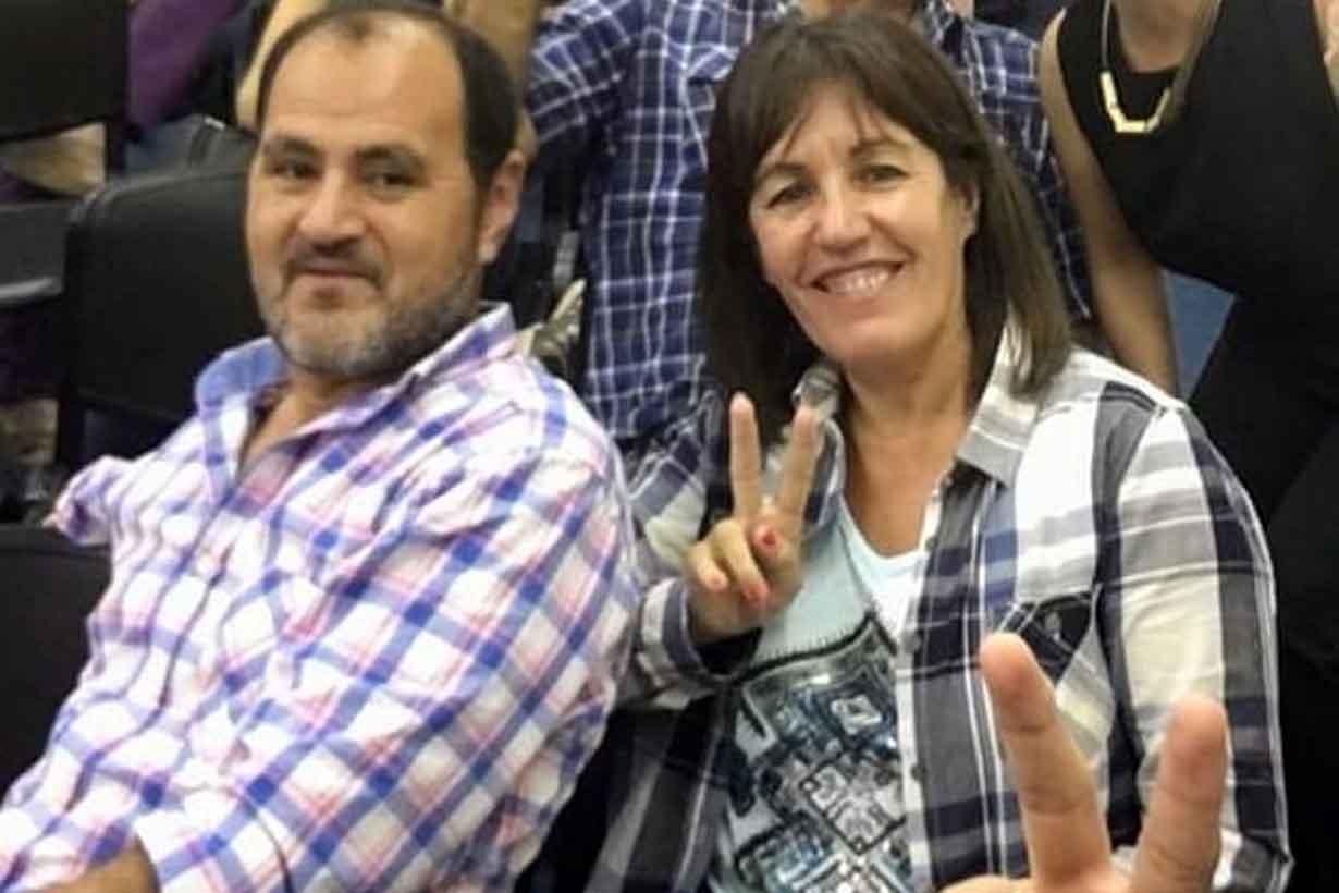 Carlos Gómez y su esposa Julia Sáenz