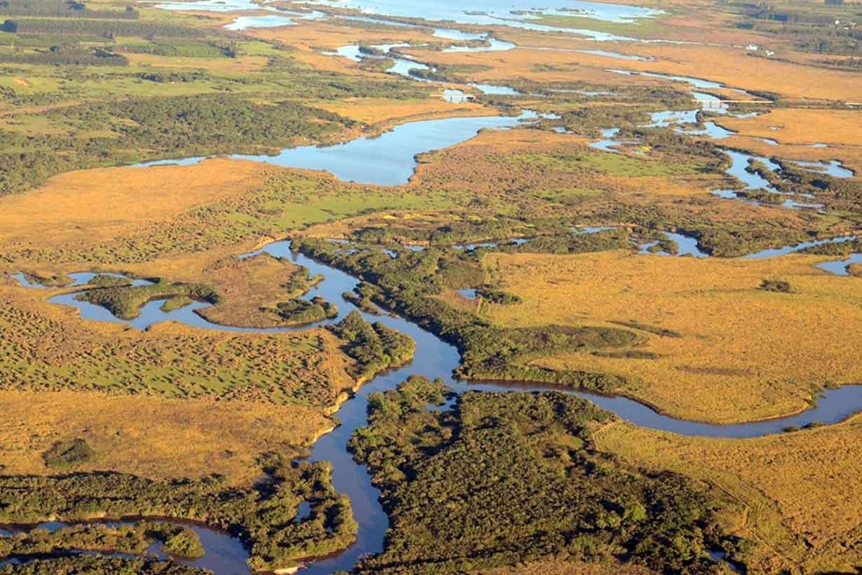 Imagen aérea del área de la reserva