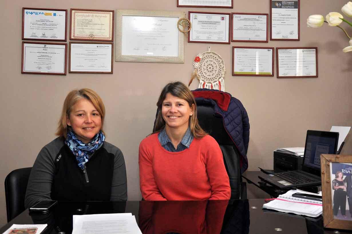 Soledad Díaz Cardoso y Angelina Orcellet