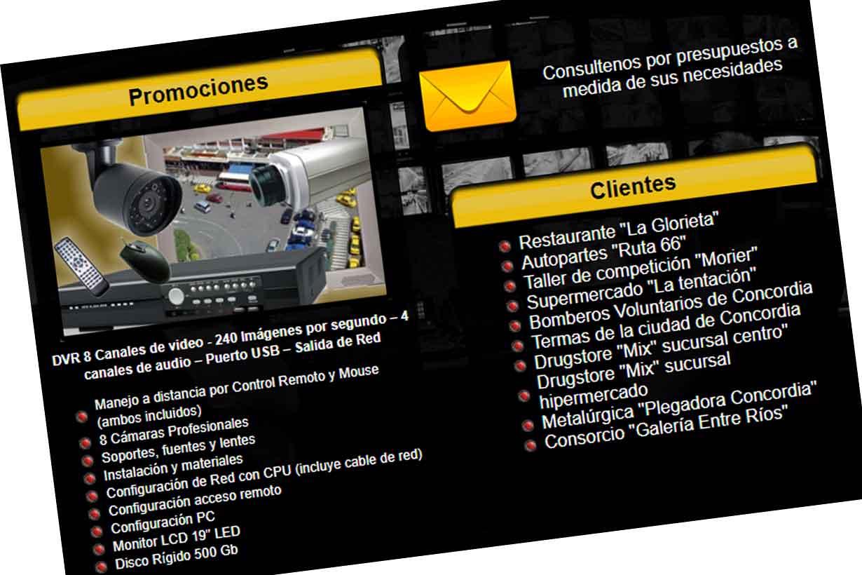 Captura de pantalla del portal en internet