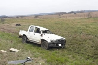 Despiste y vuelco en la autovía Artigas: dos hombres fueron hospitalizados a raíz del accidente