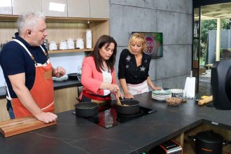 Natalia Cettour cocinó en televisión para todo el país