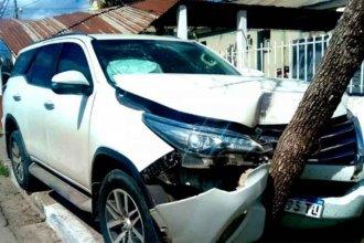 El hijo de una diputada provincial chocó frente al Hospital de Feliciano y está internado en Concordia