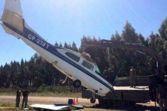 El traslado, otro problema para la avioneta abandonada en la costa del río Uruguay