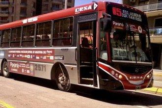 No se efectuó el pago y continúa la retención de servicios en los colectivos de Paraná