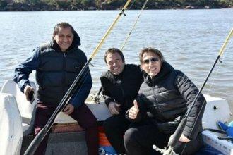 Ramón Díaz eligió Entre Ríos para un fin de semana de pesca deportiva