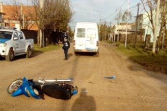 Motociclista resultó gravemente herido tras chocar con una camioneta municipal