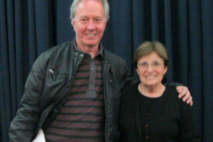 Zulma con el escritor Hugo Paredero, en Concordia.