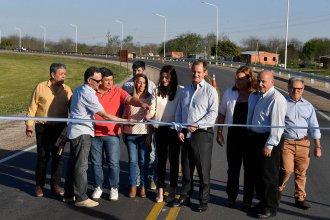 """En la habilitación del acceso sur a Villaguay, Bordet prometió que """"la próxima ruta a pavimentar será la 20"""""""