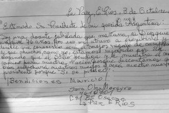 Jubilada entrerriana que tiene Alzheimer escribió una carta para Macri y se volvió viral