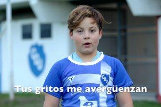 """""""El fútbol es sólo un juego"""": la campaña de dos clubes entrerrianos en la que los niños enseñan a los adultos"""
